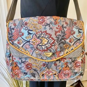 Oilily Bags - Oilily Boho Chic Floral Messenger Bag